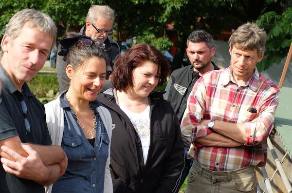 Ute Vogt und Nina Scheer auf der Domäne Friedeburg