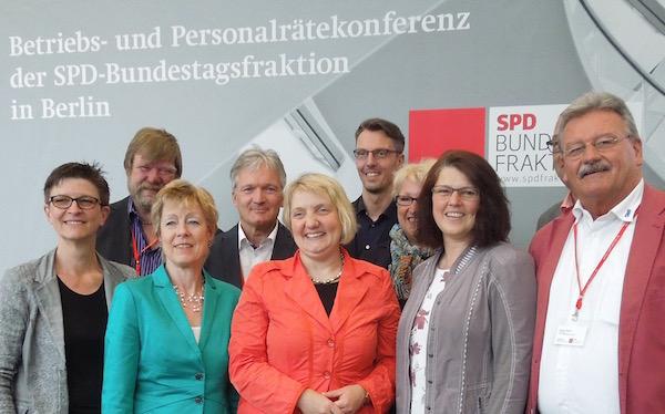SPD-Bundestagsabgeordnete mit Betriebs- und Personalräten aus Baden-Württemberg