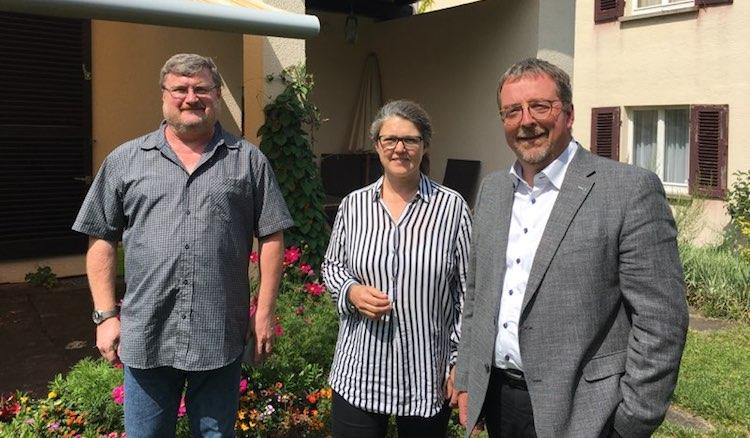 Besuch der Mahle-Stiftung, rechts Herr Jürgen Schweiß-Ertl, Geschäftsführender Gesellschafter