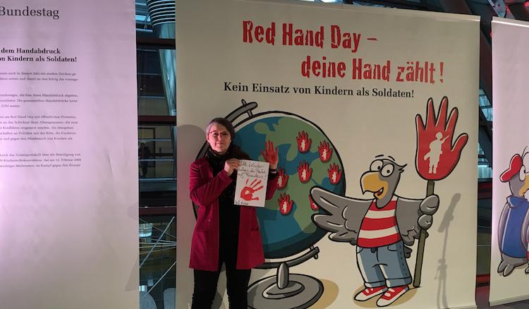 Aktion Rote Hand 2020 im Deutschen Bundestag