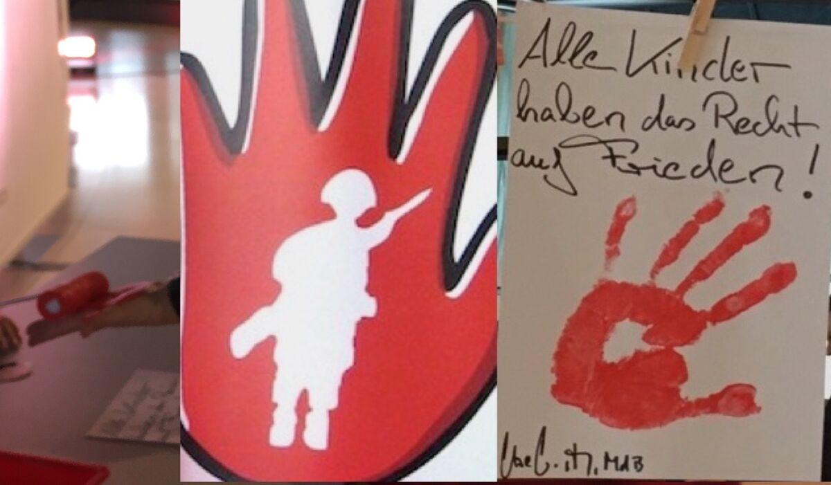 Red Hand Day 2021 Aktionstag gegen den Einsatz von Kindern als Soldatinnen und Soldaten